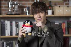 ♥ sweater hihi..140207 Lee Min Ho QQ interview photos