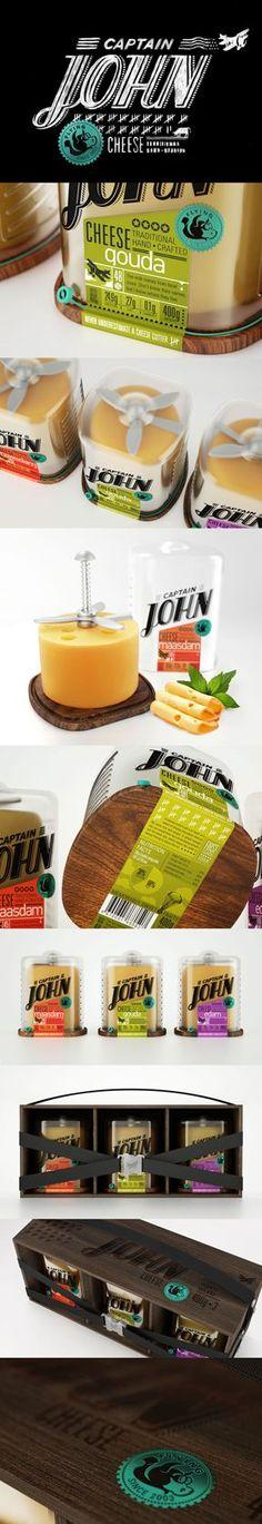 Captain John Cheese Packaging https://www.behance.net/gallery/Captain-John-Cheese/7122697