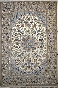 Isfahan Silk Persian Rug | Exclusive collection of rugs and tableau rugs - Treasure Gallery Isfahan Silk Persian Rug You pay: $3,400.00 Retail Price: $9,200.00 You Save: 63% ($5,800.00) Item#: 777 Category: Small(3x5-5x8) Persian Rugs Design: Floral Medallion Size: 234 x 153 (cm)      7' 8 x 5' 0 (ft) Origin: Persian, Isfahan Foundation: Silk Material: Wool & Silk Weave: 100% Hand Woven Age: Brand New KPSI: 600