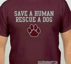 94f1f5ad Maroon Save a Human Rescue A Dog T-Shirt. XL and XXL available. (Inside paw  color is matching Maroon color.
