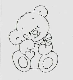 D la web Baby Embroidery, Embroidery Patterns, Quilt Patterns, Teddy Bear Drawing, Baby Drawing, Teddy Bear Coloring Pages, Coloring Books, Colouring, Art Drawings For Kids