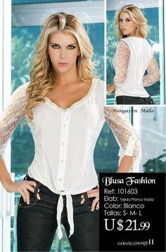 Blusa Fashion Basic Tops, Sewing, Blouse, Hair Styles, Womens Fashion, Summer, Dresses, Shirtdress, Ladies Capes