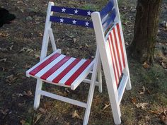 Folding Chairs in 4th of July colors
