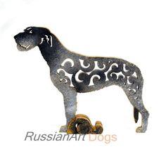 statue MDF Figurine Havanese Bichon GREY//WHITE color dog statuette wood