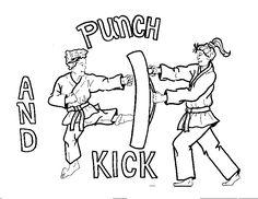 korea coloring page | color_kick_punch.gif (14513 bytes)