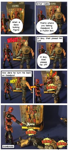 My first take at Lomics. Deadpool and Cable