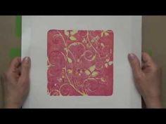 Intaglio-inspired Gelli Arts® Printing! - YouTube