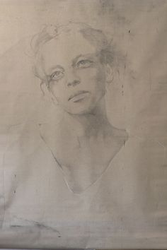 pretty portrait drawing, Charcoal, crayon, paper,  2007 - Anouk Griffioen