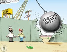 Homeland Insecurity with obama's executive amnesty in place. Cartoon by A.F.Branco ©2015