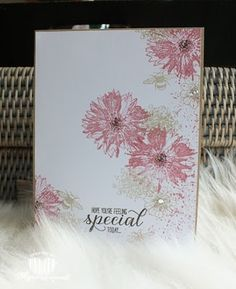 Magical Scrapworld: Hope you're feeling special today, cards, garden in bloom, Stampin' Up!, touches of texture