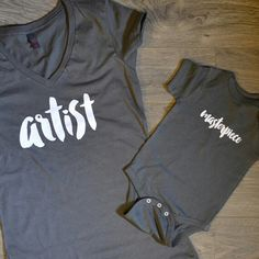 Artist Masterpiece T-shirt Package Mommy and Me outfits Mommy and me shirts Baby shower gift Mothers day gift baby bear mama bear - Kind Shirt - Ideas of Kind Shirt - Artist Masterpiece T-shirt Package Mommy and by HelloHandpressed Mommy And Me Shirt, Mommy And Son, Mommy And Me Outfits, Family Outfits, Mom And Baby, Shirt Packaging, Mom Shirts, Baby Shirts, Onesies