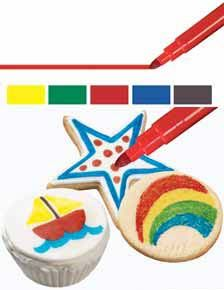 Wilton FoodWriter Edible Color Markers (stocking stuffer) about $8 - use 40% coupons at AC Moore or Joann's
