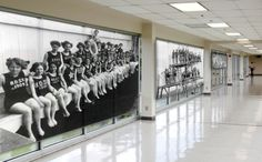 Transforming a hallway into a sporting club's gallery of heroes!