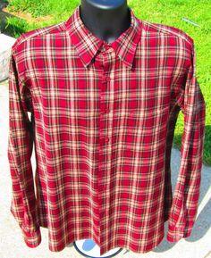 Mens Sir Pendleton 100% Virgin Wool Long Sleeve Button Front Shirt Size XL EUC ! #Pendleton #ButtonFront