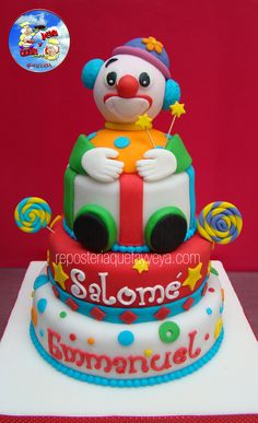 Torta Payaso Clown cake https://www.facebook.com/QuetayYeya