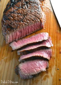 The key to a great grilled marinated London Broil is a flavorful marinade. Get the perfect recipe for this inexpensive cut of beef, now from Delish D& London Broil Marinade, Grilled London Broil, London Broil Grill Time, Pork Rib Recipes, Grilling Recipes, Cooking Recipes, Smoker Recipes, Steak Recipes, Roast Recipes