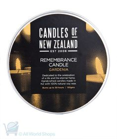 Remembrance Candle - Natural Soy Candle - Gardenia | Shop New Zealand NZ$ 24.90