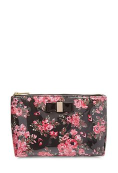 Midsize Floral Cosmetic Bag | FOREVER21 - 1000066910