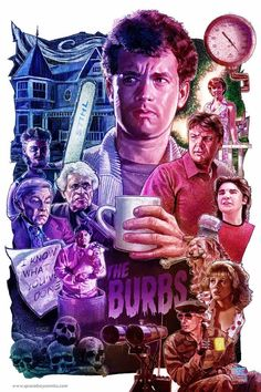 """The Burbs"" Movie Art by Blake Armstrong aka Space Boy Comics Horror Movie Posters, Best Movie Posters, Movie Poster Art, Horror Movies, Fan Poster, 80s Movies, Comedy Movies, Film Movie, The Burbs Movie"