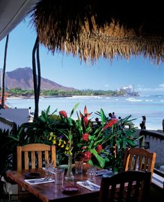 Island of Oahu.  This is a great place to eat. it is called Dukes.