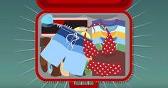 La vraie façon de faire une valise. Incroyable et ça fonctionne.  http://rienquedugratuit.ca/videos/la-vraie-facon-de-faire-une-valise/
