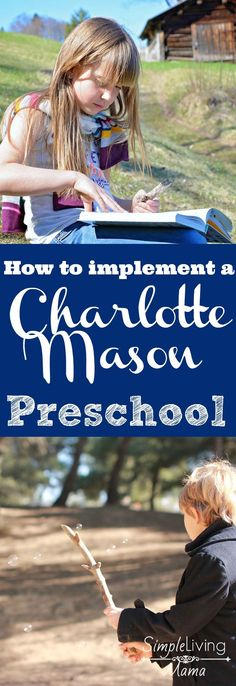 Are you interested in the Charlotte Mason method? You can create a Charlotte Mason preschool in your home and introduce your children to learning in a gentle environment.