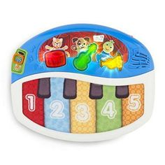 Baby Einstein Discover And Play Piano. It's not a real piano as you can probably expect from a plastic one like this but it is a good introduction to music, songs, and musical instruments. The Piano, Toddler Toys, Baby Toys, Kids Toys, Infant Toddler, Einstein, Piano Musical, Baby Musical Toys, Baby Games