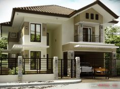 Shelter is a vital primary want. It ought to be optimized to offer nice consolation. Bungalow Home Designs are drawn to. Two Story House Design, 2 Storey House Design, Bungalow House Design, House Front Design, Modern Exterior House Designs, Modern House Design, Model House Plan, House Plans, Philippines House Design