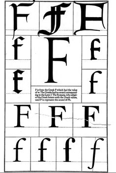 1942 Print Diagram Letter F Serif Gothic Roman Typography Frederic Goudy - Period Paper Calligraphy Letters, Typography Letters, Typography Design, Abc Letra, Journal Fonts, Letter F, Painted Letters, Vintage Typography, Brush Lettering