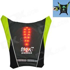 Multi-Rider Remote Control Light-emitting Waarschuwings Vest  - Donkergrijs (2 x CR2032)