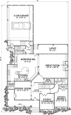 Country Style House Plans - 4632 Square Foot Home , 2 Story, 5 Bedroom and 4 Bath, 3 Garage Stalls by Monster House Plans - Plan 79-128