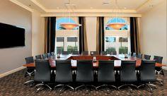 Hilton Naples's newly renovated executive boardroom