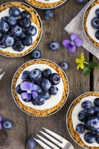 Lemon Blueberry Tarts (in Mason Jar Lids)