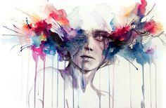 pinturas acuarelas abstractas - Buscar con Google
