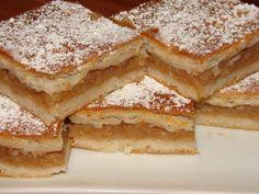 igazan-finom-almas-lepeny-ez-egy-olyan-suti-de-olyan Hungarian Desserts, Hungarian Cake, Hungarian Recipes, Russian Recipes, Eat Seasonal, Romanian Food, Baking And Pastry, Food Places, Food Design