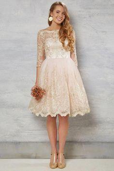 e673ba3688c0  169.29 –Long Sleeve Lace A-line Short Bridesmaid Dress. Shop for long  dresses. Wedding Dress SleevesCheap ...