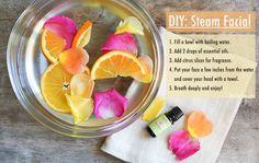 The Chic Site  DIY Facial  Steam Facial  Essential Oils