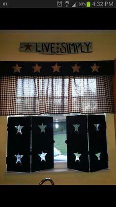 My amazing fiance made the shutters. My prim kitchen window♥