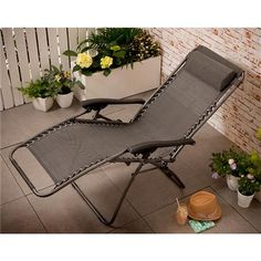 Image for Raven Recliner Chair from Kmart Sun Lounger Chair, Reclining Sun Lounger, Outdoor Chairs, Outdoor Furniture, Outdoor Decor, Camping Shop, Foldable Chairs, Gas Stove, Grey Chair