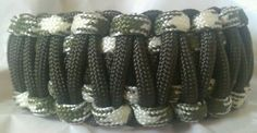 Paracord Bracelet Survival Inspired Green Camo & OD King Cobra