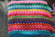 homemade@myplace: Block Stitch Afghan : the way I do it !!!!