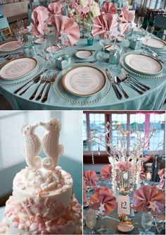 Blue and pink under the sea party idea :)
