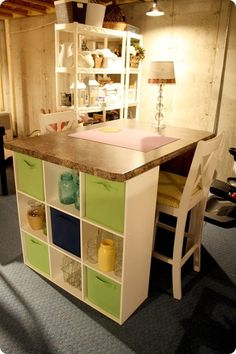 DIY craft table I hope to have one one day.
