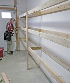 Ana White | Build a Easy and Fast DIY Garage or Basement Shelving for Tote Storage | Free and Easy DIY Project and Furniture Plans