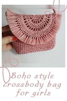 Crochet Clutch Pattern, Boho Crochet Patterns, Crochet Bag Tutorials, Macrame Patterns, Crochet Designs, Crochet Stitches, Crochet Clutch Bags, Crochet Bags, Pdf Sewing Patterns