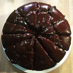 Chocolate cake on set! Recipe in Simply Nigella!