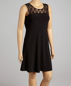 Look at this Star Vixen Black Lace Sleeveless Dress - Plus on #zulily today!