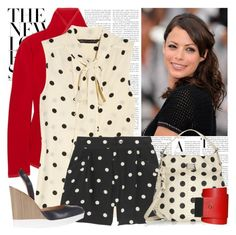 """""""POLKA DOTS"""" by dodine ❤ liked on Polyvore featuring Donna Karan, Marc by Marc Jacobs, Jil Sander and Under.Ligne"""
