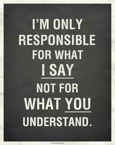 I'm only responsible....