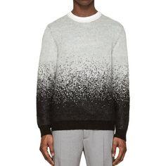 Fancy - Black & Grey Mohair Degraded Sweater by Neil Barrett